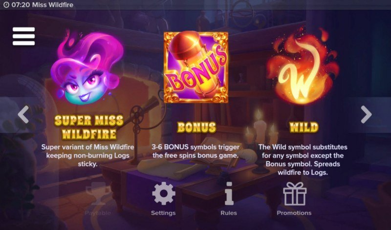 Miss Wildfire :: Wild and Scatter Rules