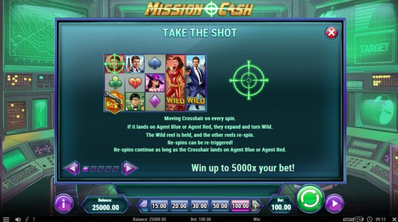 Mission Cash :: Take A Shoot Feature Rules