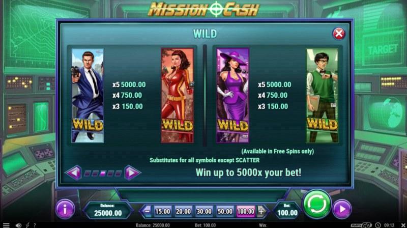 Mission Cash :: Wild Symbols Rules