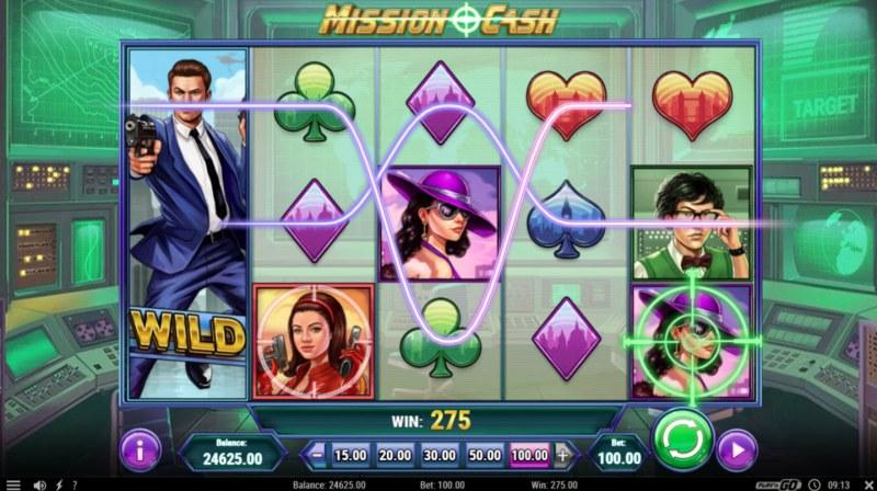 Mission Cash :: Multiple winning paylines