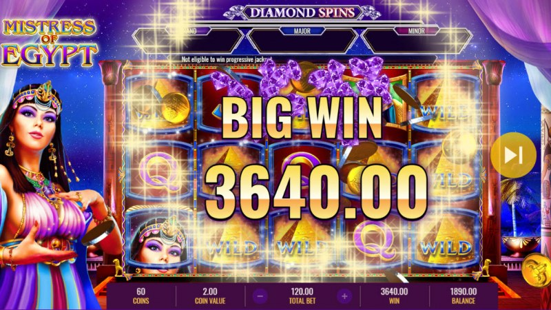 Mistress of Egypt Diamond Spins :: Big Win
