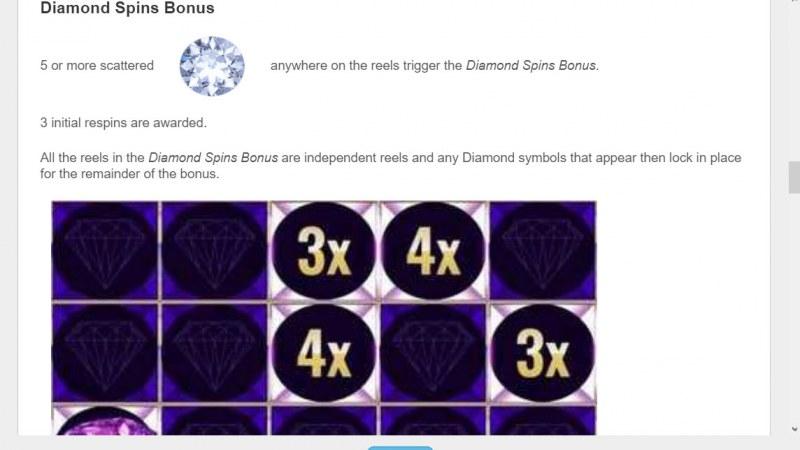 Mistress of Egypt Diamond Spins :: Diamond Spins Bonus