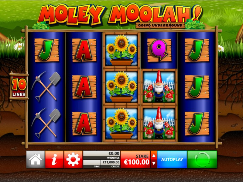 Moley Moolah Going Underground :: Main Game Board
