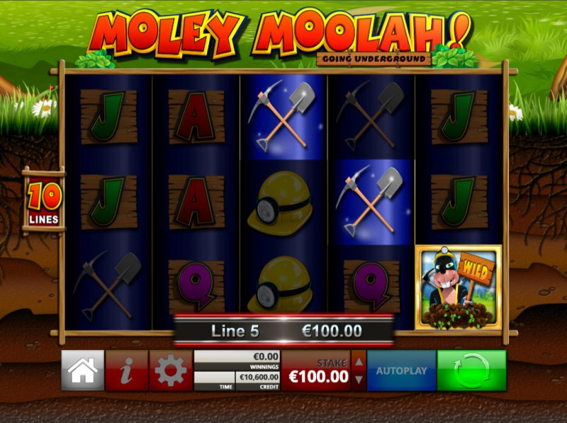 Moley Moolah Going Underground :: Game Pays In Both Directions