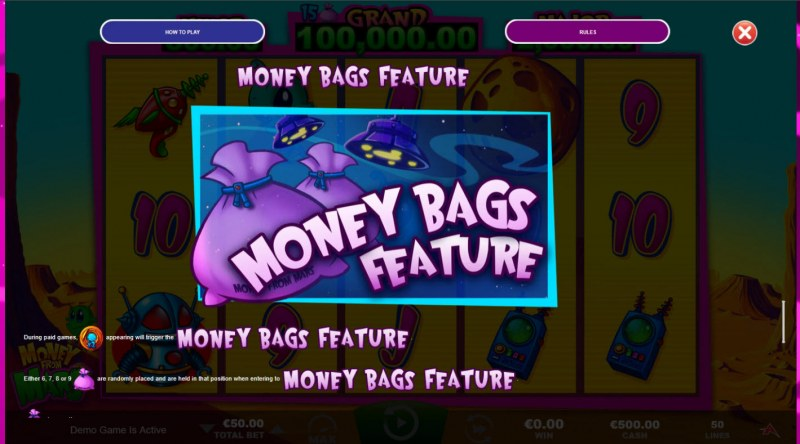 Money from Mars :: Money Bags Feature