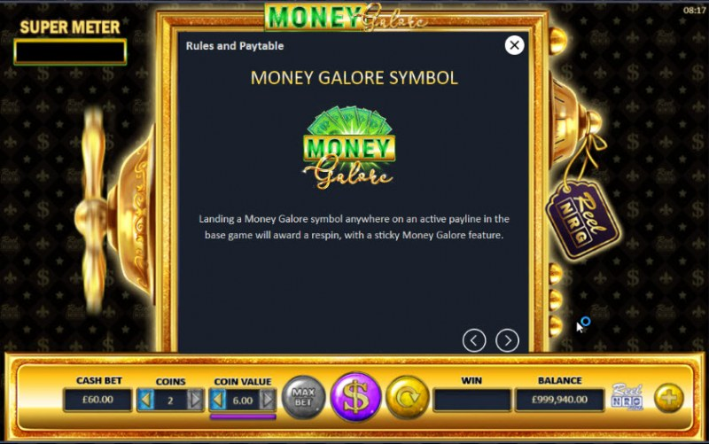 Money Galore :: Feature Rules