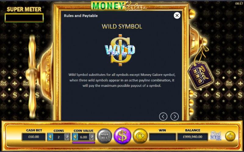 Money Galore :: Wild Symbols Rules