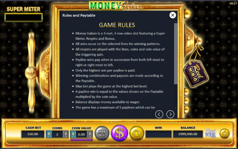 Money Galore :: General Game Rules