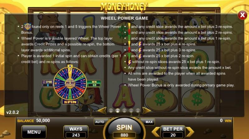 Money Honey :: Wheel Power Game