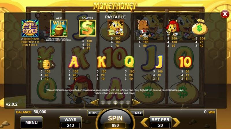 Money Honey :: Paytable