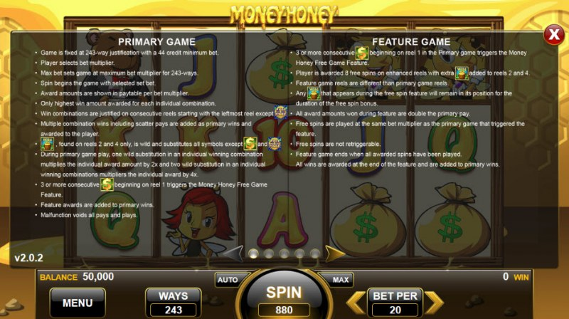Money Honey :: Feature Rules