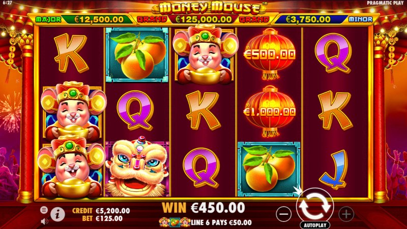 Money Mouse :: Multiple winning combinations