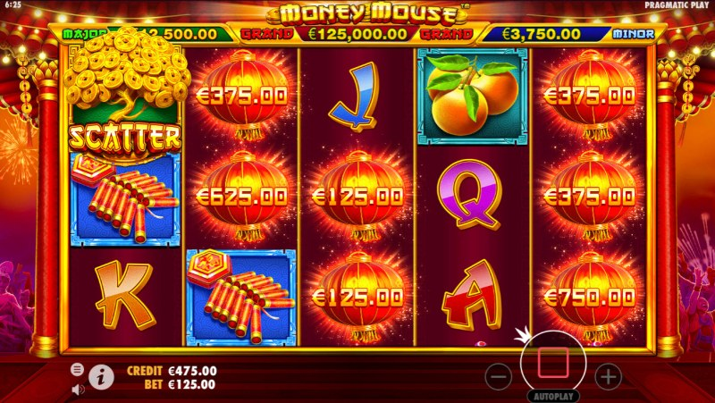 Money Mouse :: Five or more lucky lanterns triggers feature
