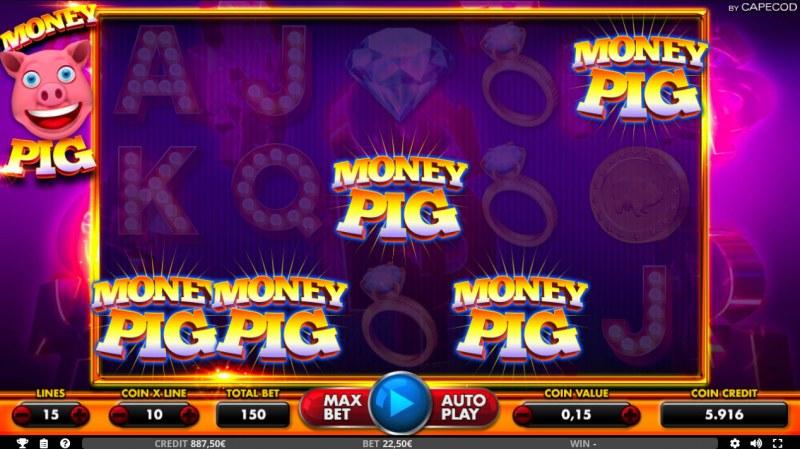 Money Pig :: Scatter symbols triggers bonus feature