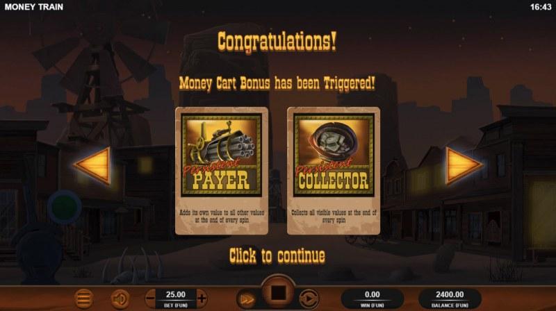 Money Train :: Bonus game triggered
