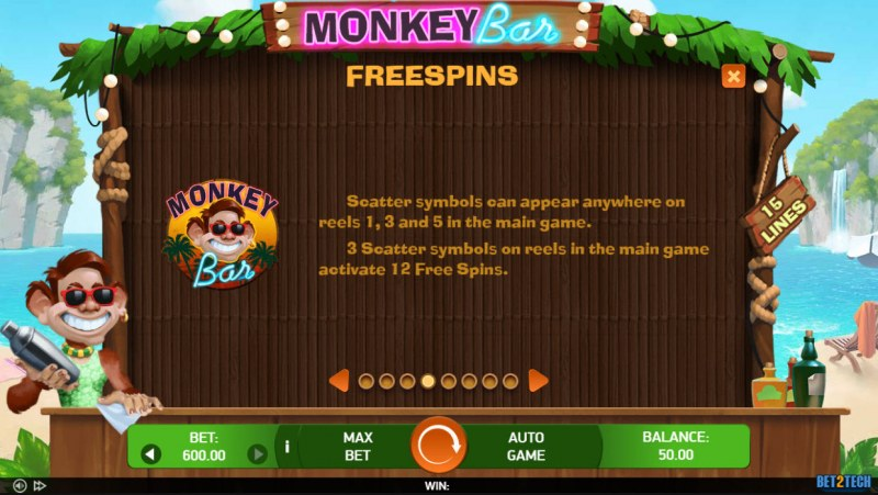 Monkey Bar :: Free Spin Feature Rules
