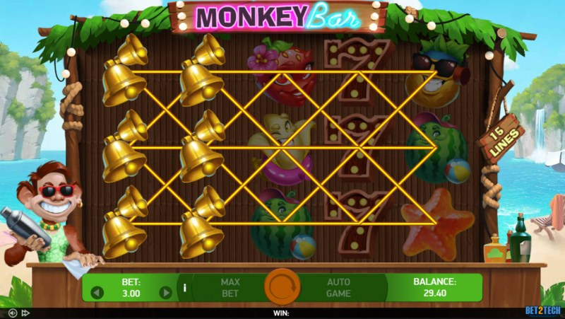 Monkey Bar :: Multiple winning combinations lead to a big win