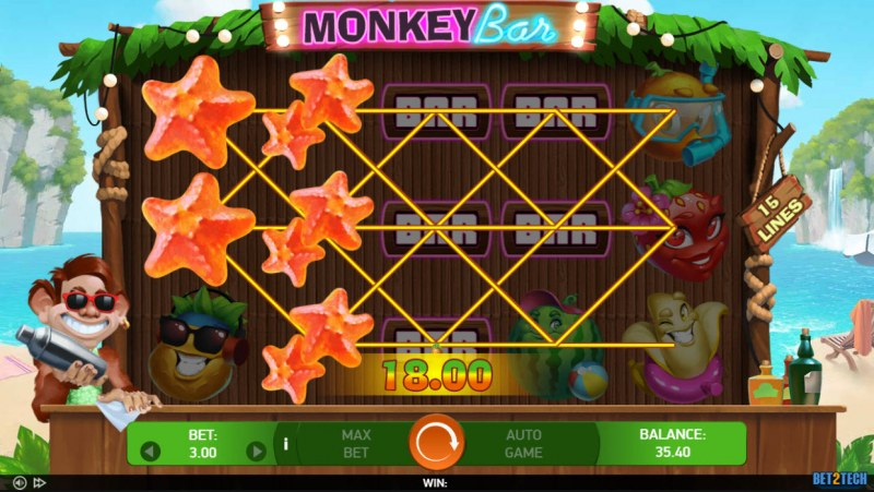 Monkey Bar :: Multiple winning paylines