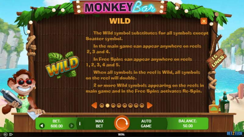 Monkey Bar :: Wild Symbol Rules
