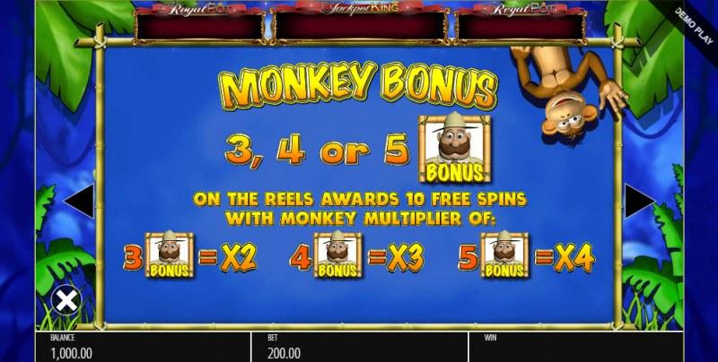 Monkey Business Deluxe :: Bonus Game Rules
