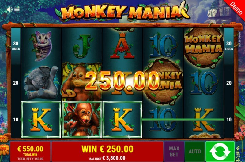 Monkey Mania :: Free Spins Game Board