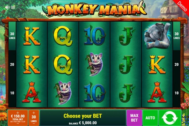 Monkey Mania :: Main Game Board