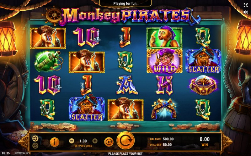 Monkey Pirates :: Main Game Board