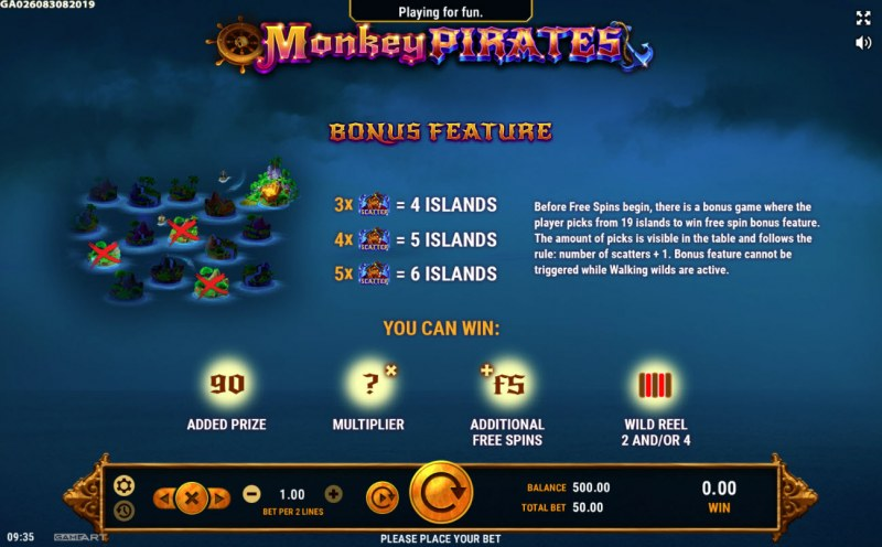 Monkey Pirates :: Feature Rules