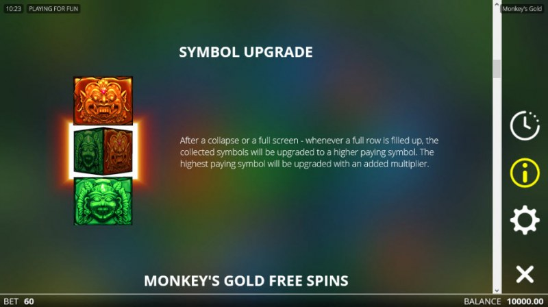 Monkey's Gold :: Symbol Upgrade