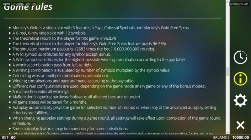 Monkey's Gold :: General Game Rules