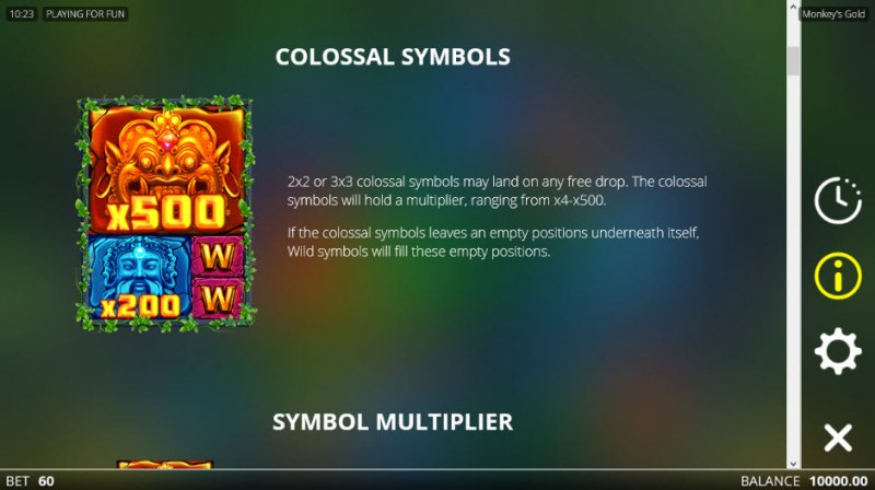 Monkey's Gold :: Colossal Symbols