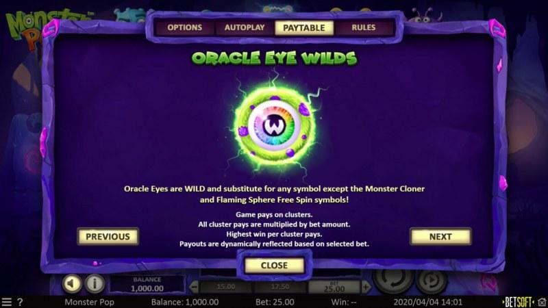 Monster Pop :: Oracle Eye Wilds