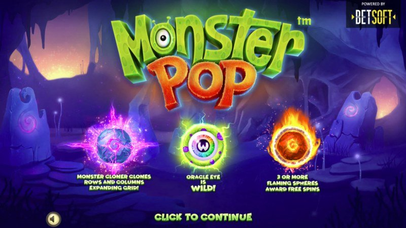 Play slots at MyBcasino: MyBcasino featuring the Video Slots Monster Pop with a maximum payout of $10,000