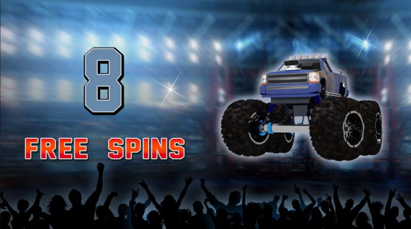 Monster Trucks :: 8 Free Spins Awarded