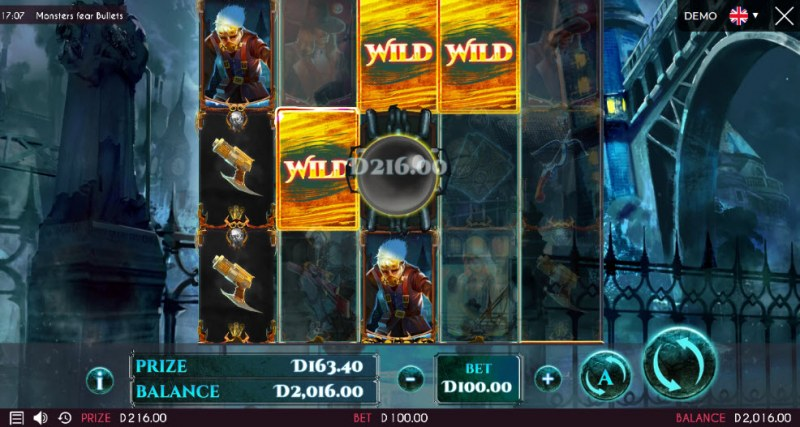 Monsters Fear Bullets :: Multiple winning paylines