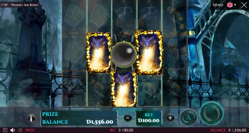 Monsters Fear Bullets :: Scatter symbols triggers the free spins feature