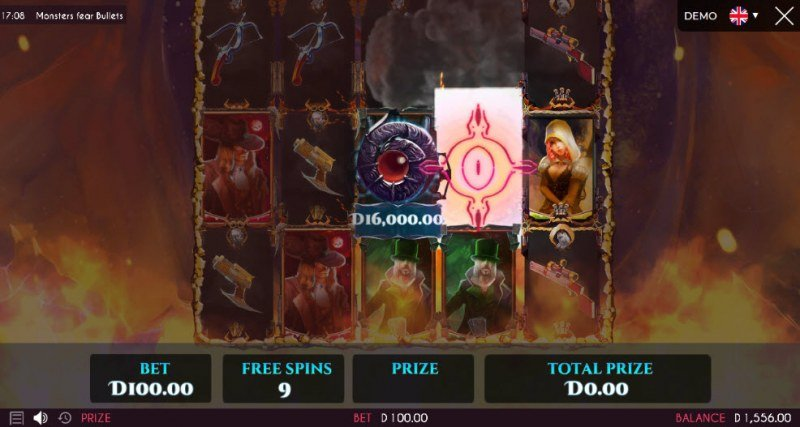 Monsters Fear Bullets :: Free Spins Game Board