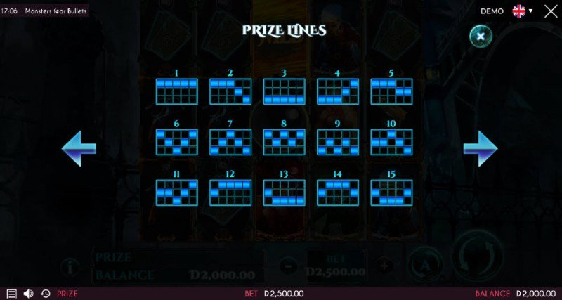 Monsters Fear Bullets :: Prize Lines 1-15