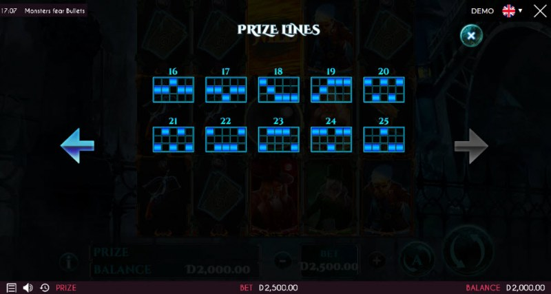 Monsters Fear Bullets :: Prize Lines 16-25