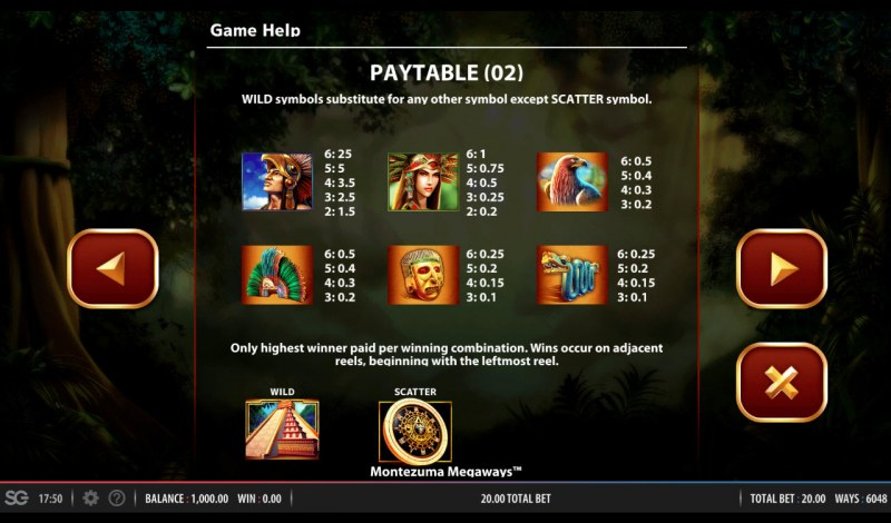 Montezuma Megaways :: Paytable - High Value Symbols