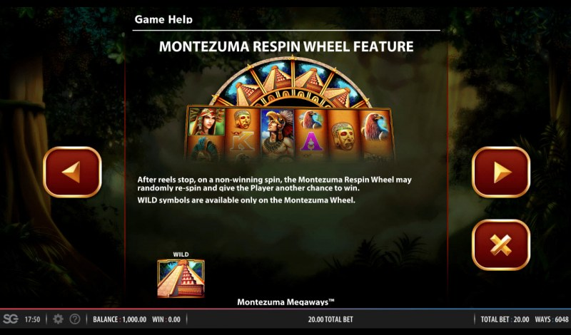 Montezuma Megaways :: Respin Wheel Feature