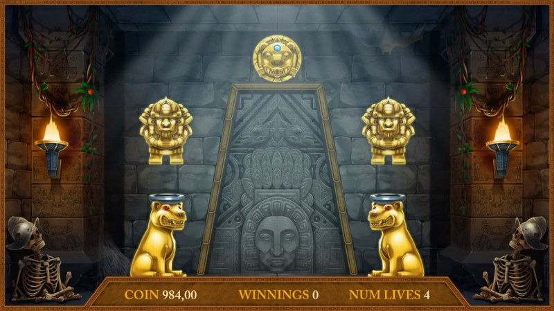 Montezuma's Treasure :: Pick symbols to win prizes or advance to next level