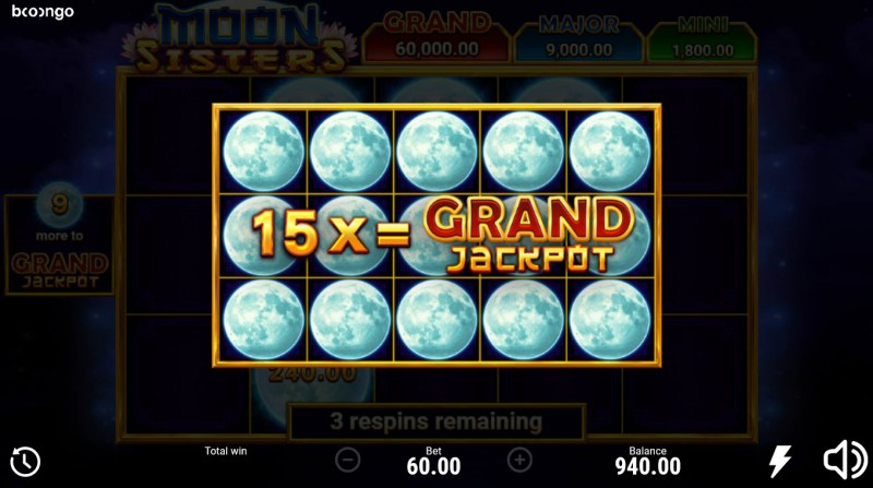 Moon Sisters Hold and Win :: Fill the reels with as many money symbols and win big