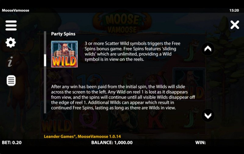 Moose Vamoose :: Free Spin Feature Rules
