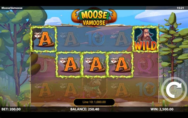Moose Vamoose :: A five of a kind win