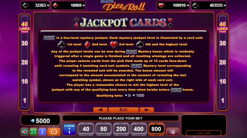 More Dice & Roll :: Jackpot Rules
