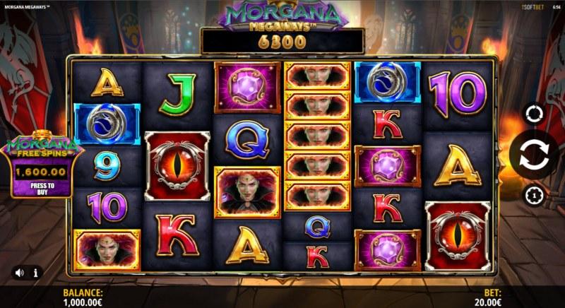 Morgana Megaways :: Main Game Board
