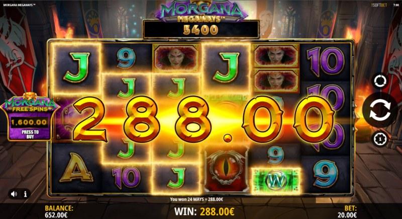 Morgana Megaways :: Multiple winning combinations