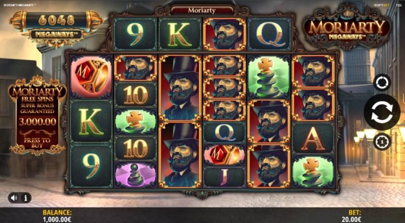 Moriarty Megaways :: Main Game Board