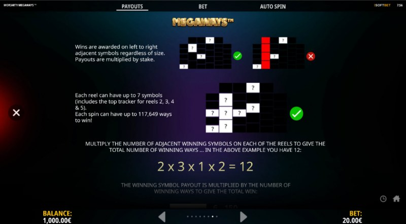 Moriarty Megaways :: 117649 Ways to Win